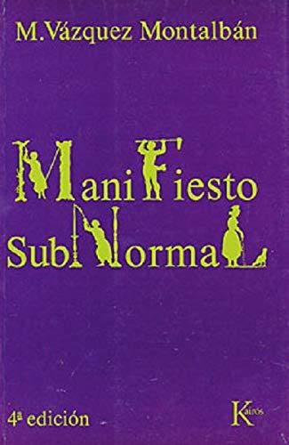 9788472450288: Manifiesto subnormal