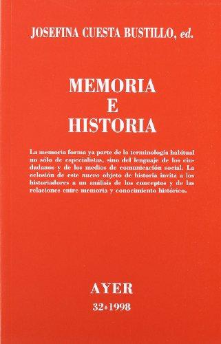 9788472486225: Memoria e historia