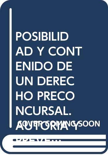 Posibilidad y contenido de un derecho preconsursal: Fernández del Pozo,