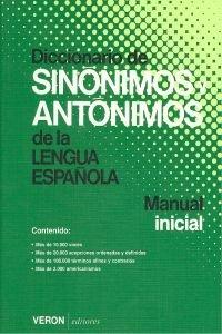 9788472551855: Diccionario De Sinonimos Y Antonimos De La Lengua Española Manual Inicial VERON