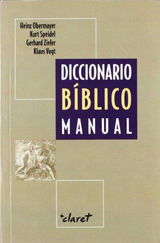 9788472630949: DICCIONARIO BIBLICO MANUAL (CLARET)