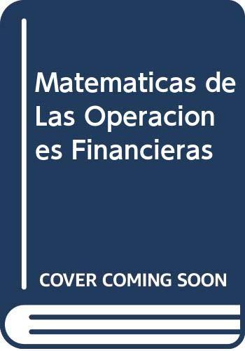 9788472881280: Matematicas de Las Operaciones Financieras (Spanish Edition)