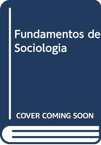 9788472884953: Fundamentos de Sociologia (Spanish Edition)