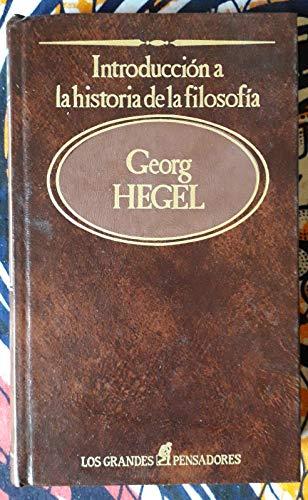 Introducción a la historia de la filosofía: Hegel
