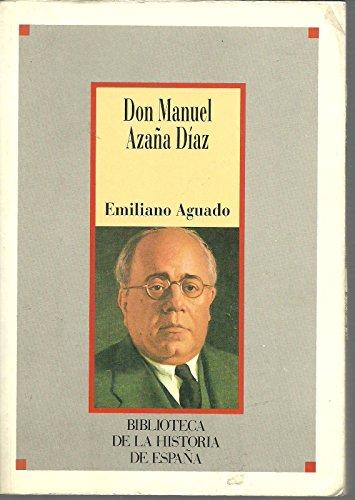 9788472919853: Don Manuel azaña Díaz