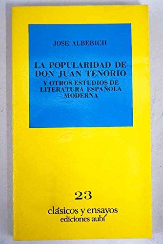 Popularidad de Don Juan Tenorio y Otros: Alberich, Jose