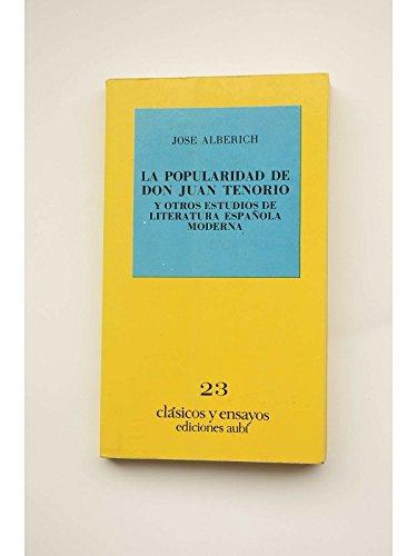 La popularidad de Don Juan Tenorio y: Alberich, Jose
