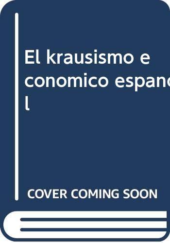 9788472962927: El krausismo economico español