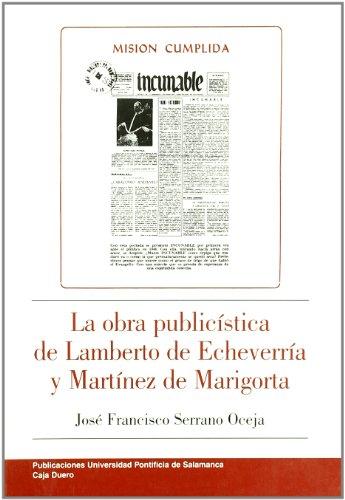 La obra publicista de Lamberto de Echeverría: Serrano Oceja, José