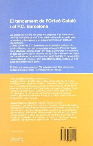 9788473066402: El tancament de l'Orfeó Català i el F.C. Barcelona sota la Dictadura (Pòrtic Panorama)