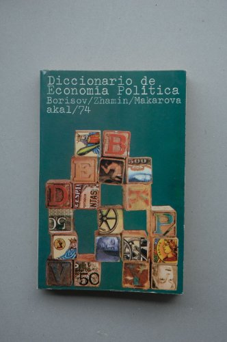 9788473390606: Diccionario de economia politica
