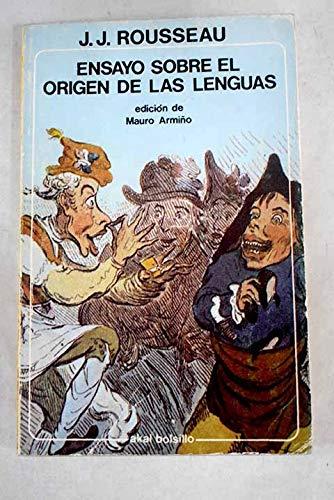 9788473394789: Ensayo Sobre El Origen De Las Lenguas