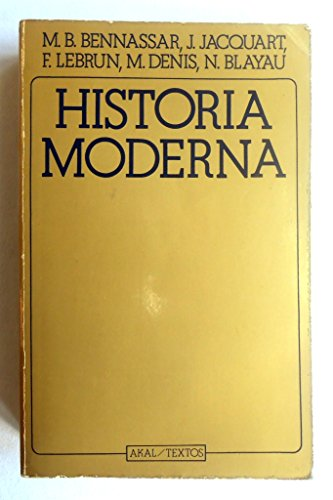 9788473394857: Historia moderna
