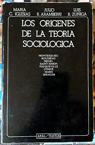 9788473395076: Los origenes de la teoria sociologica