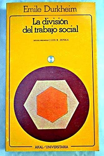 9788473396059: La división del trabajo social
