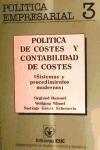 POLITICA DE COSTES T.II: SISTEMAS Y PROCEDIMIENTOS: MAENNEL, WOLFGRANG