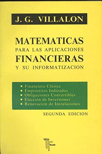 9788473601122: MATEMATICAS PARA LAS APLICACIONES FINANCIERAS