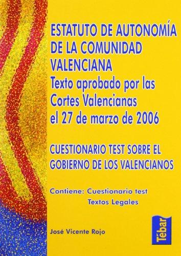9788473601993: Estatuto de Autonomía de la Comunidad Valenciana