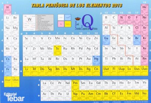 9788473605021: Tabla periódica de los elementos 2013