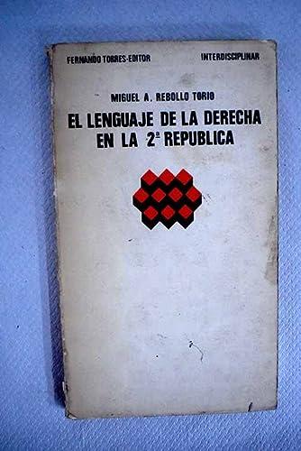 El lenguaje de la derecha en la: Rebollo Torio, Miguel