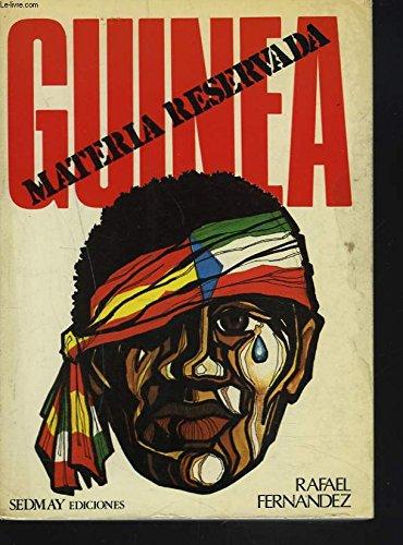 9788473802017: Guinea: Materia reservada (Spanish Edition)