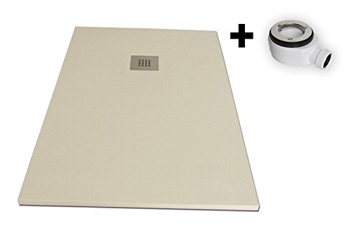 "9788474000696: 'Shower Resin Texture ""Slate. 70x 170cm. Beige RAL 1015"