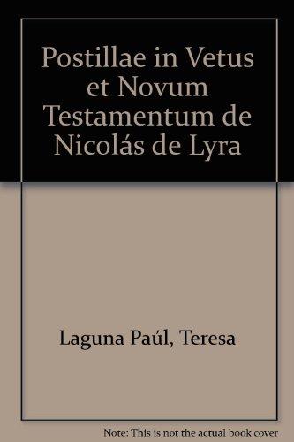 9788474051476: Postillae in vetus et novum testamentum de Nicolas de Lyra (Spanish Edition)