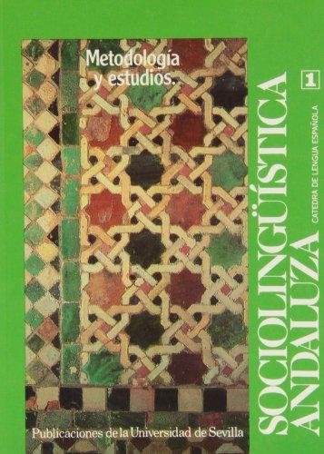Sociolingü,stica andaluza (Publicaciones de la Universidad de: Lamiquiz Ibáñez, Vidal