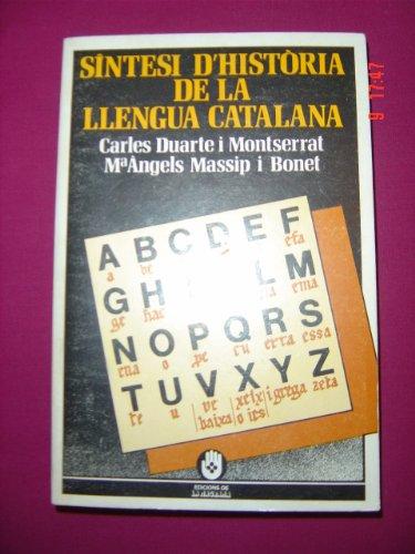 9788474100846: Síntesi d'història de la llengua catalana (VARIA)