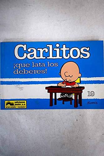 9788474196979: CARLITOS, QUE LATA LOS DEBERES
