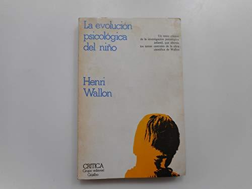9788474230086: Evolucion Psicologica del Nio, La (Spanish Edition)