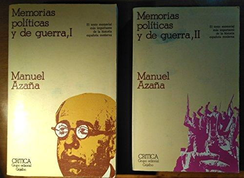 9788474230475: Memorias políticas y de guerra (Temas hispánicos) (Spanish Edition)