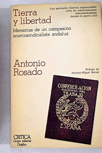 9788474230796: Tierra y libertad: Memorias de un campesino anarcosindicalista andaluz (Temas hispánicos) (Spanish Edition)