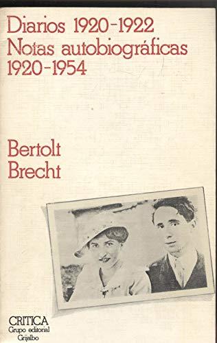 9788474231274: Diarios 1920-1922 : Notas autobiográficas 1920-1954