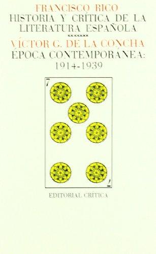 Vol. 7: Época contemporánea/ 1914-1939: Agustín Sánchez Vidal/Víctor