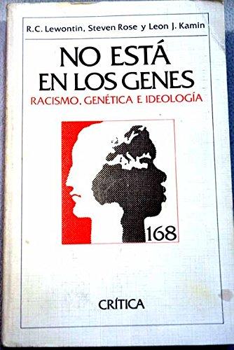 9788474233056: No está en los genes: racismo, genética e ideología