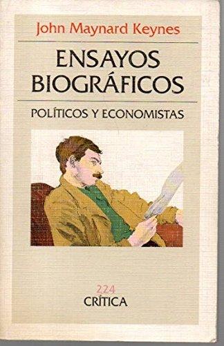 9788474235524: ENSAYOS BIOGRAFICOS. POLITICOS Y ECONOMISTAS.