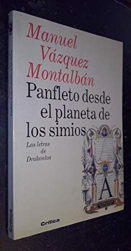 9788474237290: Panfleto desde el planeta de los simios (Las letras de drakontos) (Spanish Edition)
