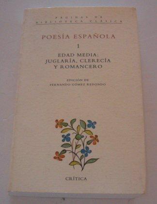Poesia espanola (Paginas de Biblioteca clasica) (Spanish Edition): Fernando G?mez Redondo