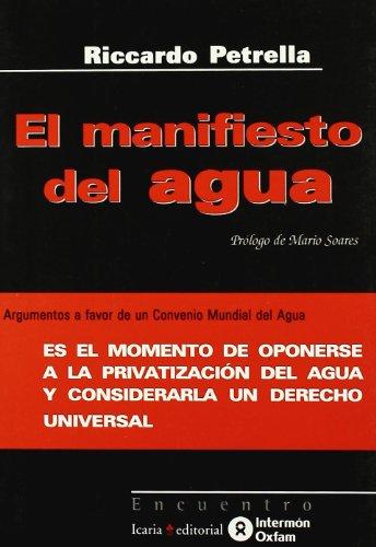 9788474265934: El Manifiesto Del Agua (Spanish Edition)