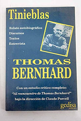 9788474322828: Tinieblas (Spanish Edition)