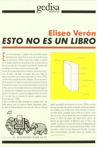 9788474327229: Esto No Es Un Libro (Coleccion El Mamifero Parlante) (Spanish Edition)