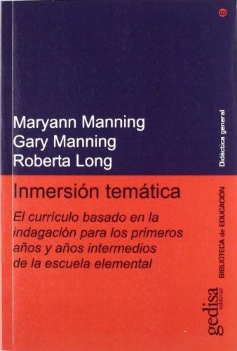 9788474327274: Inmersion Tematica (Spanish Edition)