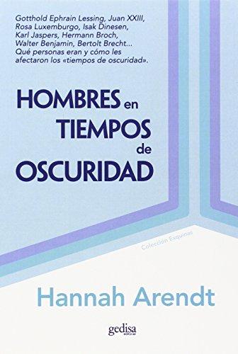 9788474327908: Hombres En Tiempos De Oscuridad (Spanish Edition)
