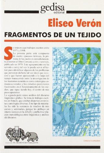 9788474328738: Fragmentos de un tejido (Mamifero Parlante)