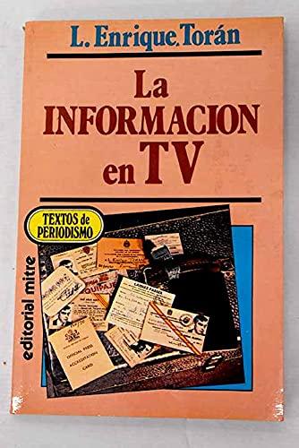 La información en TV: Torán, L. Enrique