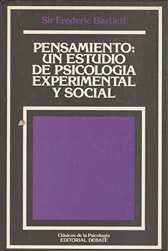 9788474443004: PENSAMIENTO UN ESTUDIO DE PSICOLOGIA EXPERIMENTAL Y SOCIAL
