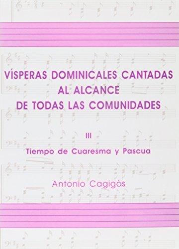 9788474674842: Vísperas dominicales volumen III (libro) (PUBLICACIONES MUSICALES)