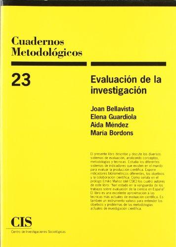 9788474762525: Evaluación de la investigación (Cuadernos Metodológicos)