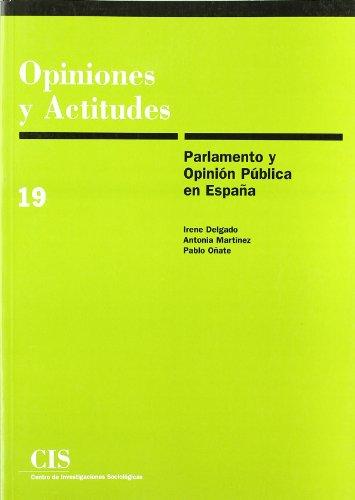 9788474762617: Parlamento y opinion publica en Espana (Opiniones y actitudes) (Spanish Edition)